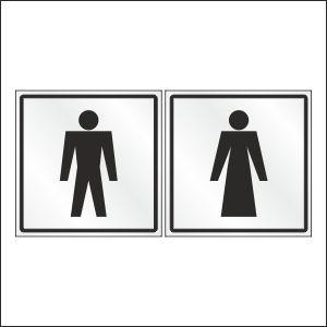 Таблички, наклейки, на туалет
